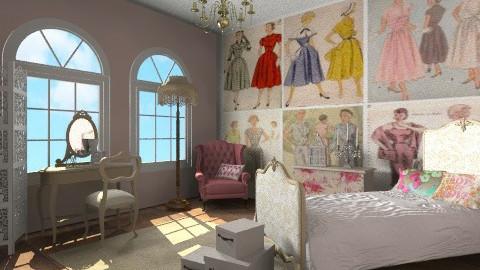 Classic 50s Fashion - Feminine - Bedroom - by lottie21