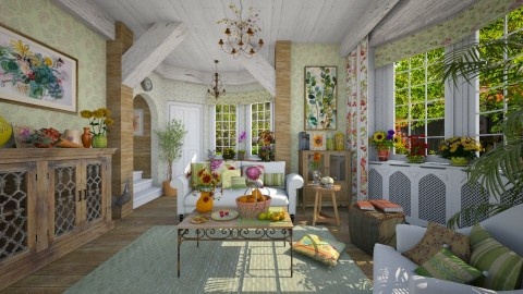Early Autumn - Living room - by Violetta V