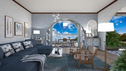 M_Coastal house2 - Living room - by milyca8
