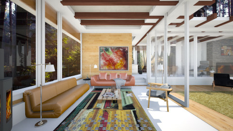 inspired house by neutra - Country - Living room - by sometimes i am here