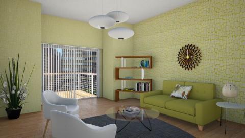 Mid Century Living Room 1 - Retro - Living room - by corbu_cat