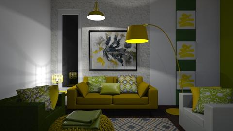 Green and Yellow Dark - Modern - Living room - by XiraFizade