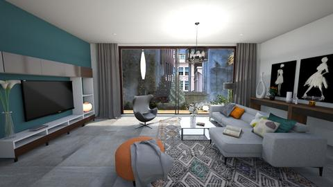 Courtyard by ModDezign - Living room - by Sanja S