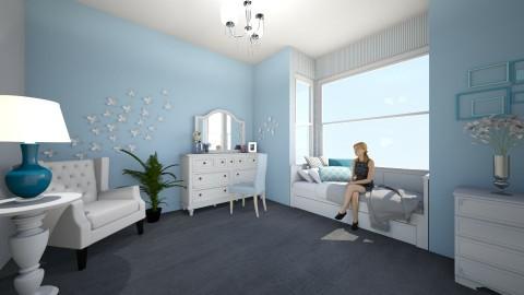 blue room - Feminine - Bedroom - by ehamlin
