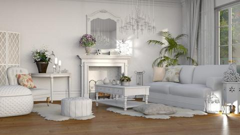 white - Living room - by anjaam