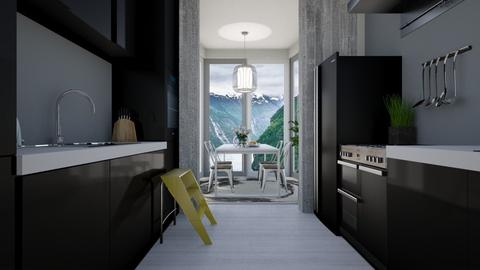 White and bright 2 - Kitchen - by aurora dobric