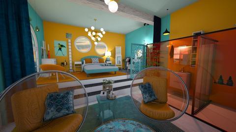 Orange Blue - Modern - Bedroom - by BliNosif