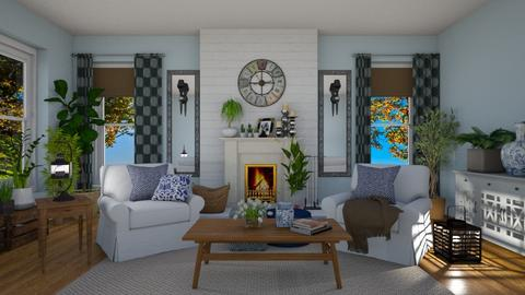 Farmhouse Style Blue - Living room - by JarkaK