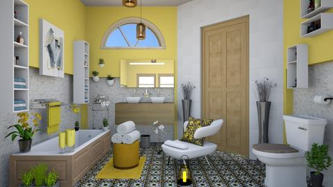 all yellow  - Modern - Bathroom - by zayneb_17