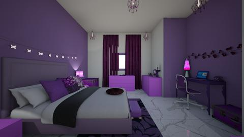 purple dark candle room - Modern - Bedroom - by jade1111