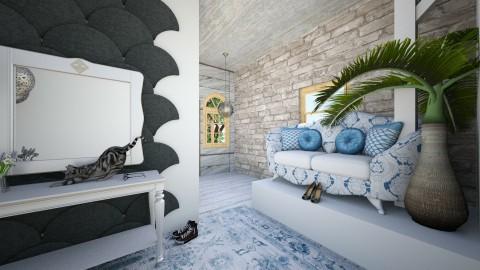 Blue star - Living room - by EmiliaWadranska