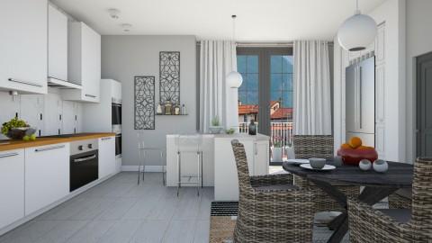 Grey Steel And Wicker - Modern - Kitchen - by janip