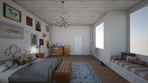 equestrian bedroom - by ckolessar