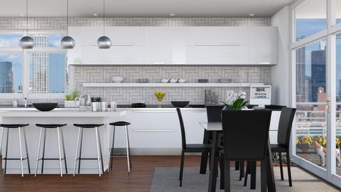 White Kitchen 2 - Kitchen - by GraceKathryn
