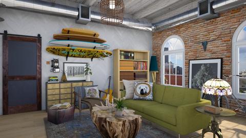 Eclectic Loft LR6 - Eclectic - Living room - by vee_la_ree