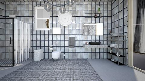 all is grey  - Modern - Bathroom - by zayneb_17