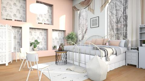 Pink_Wall - Bedroom - by ZuzanaDesign