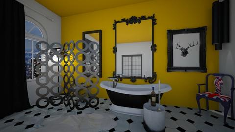 BlackYellow Diamond Bath - Bathroom - by raphaelfernandesdesign