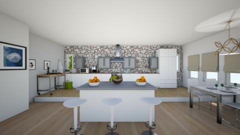 white and grey - Kitchen - by TARA T
