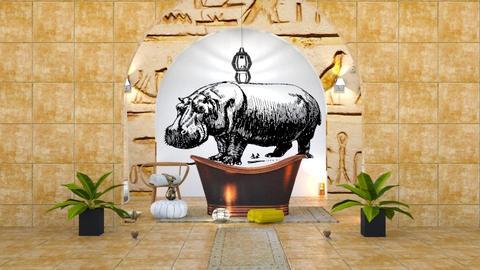 Egyptian_bathroom - Bathroom - by elephant in savanna
