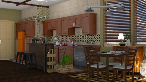 eclectic kitchen mosaic - by nat mi