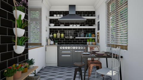 Metro - Eclectic - Kitchen - by Laurika