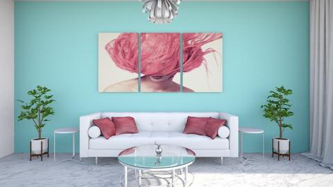 Hot pink - Living room - by Louise Hedlund