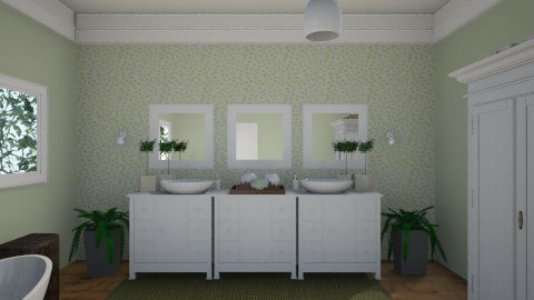 Green Bath2 - Bathroom - by marielabatalla