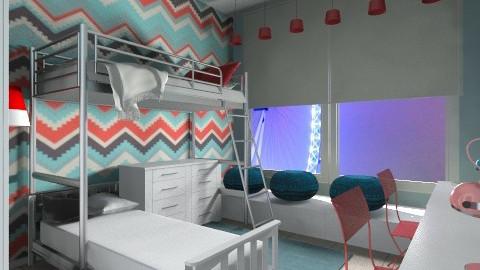 teenage twins unisex room - Kids room - by AndreaMTorres1