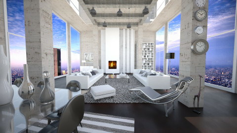 concrete home - Modern - Living room - by Senia N