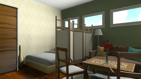 basement guest room - Eclectic - Bedroom - by maslow