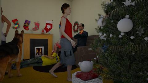Christmas lounge - Living room - by Princapessa10