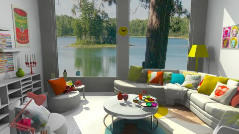 Color Splash - Eclectic - Living room - by idesine