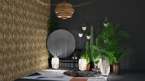 boho style  - Living room - by nicolaswiggins
