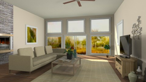 Simple Den - Country - Living room - by mpy1999