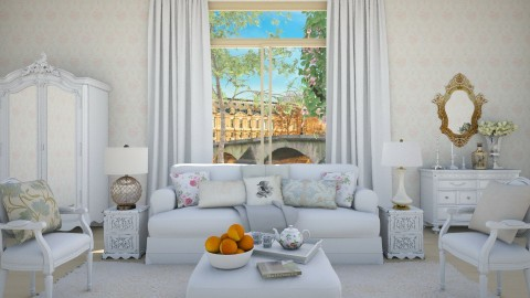 Delicate White - Classic - Living room - by DeborahArmelin