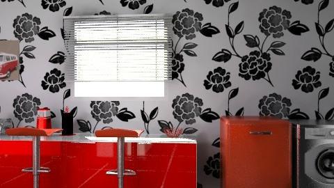 retro kitchen - Retro - Kitchen - by chelsiemia