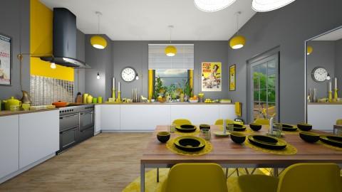 Yolk Yellow - Modern - Kitchen - by camilla_saurus