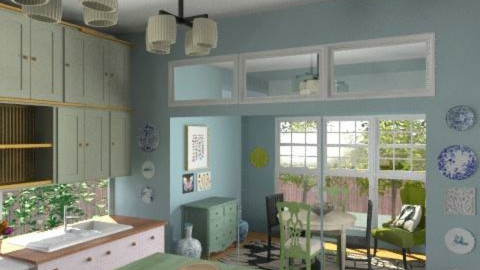 Pretty kitchen diner - Country - Kitchen - by toadfool