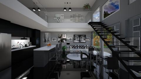 Mezzanine apartment  - by Kelly Carter