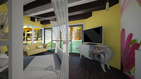 resort - Glamour - Bedroom - by Navnita