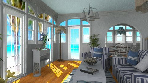 Hampton Beach Cottage - Vintage - Living room - by Bibiche