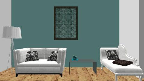 Blue - Modern - Living room - by Georgia Lee