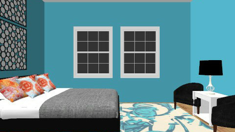 Blue - Modern - Bedroom - by Burkota