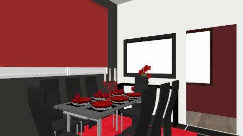 Dining area kitchen red - Modern - Dining room - by yvonne400cc