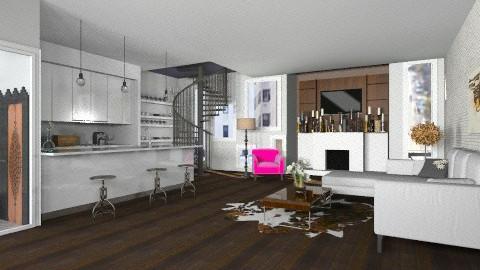 grey room - Living room - by Rechoppy92