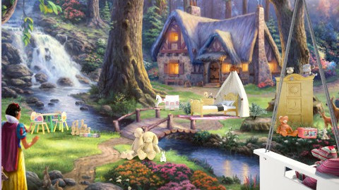 she is a little snowhite - Kids room - by Nufra