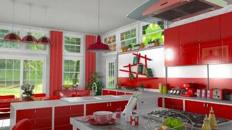 Red Impact - Modern - Kitchen - by Bibiche
