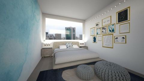 blue - Bedroom - by Kylie Gallant