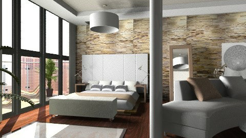 Penthouse Bedroom - Minimal - Bedroom - by Baustin